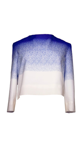 Blue Print Silk Top, Modern baroque RTW Part 2 , Chanho Jang