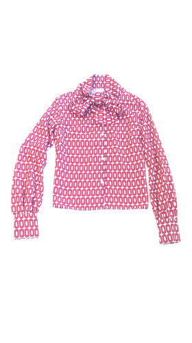 Nineteenth Amendment, T I E N A, Love Divine, Kary Print Blouse with Bow, SHIRT