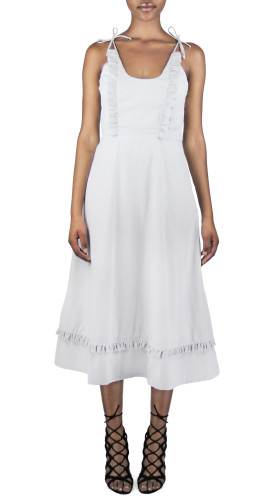 Nineteenth Amendment, Meghan Hughes, Spellbound, Ruffle Midi Dress, DRESS