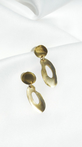 Nineteenth Amendment, , Curva Collection, Circular Earrings, Jewelry