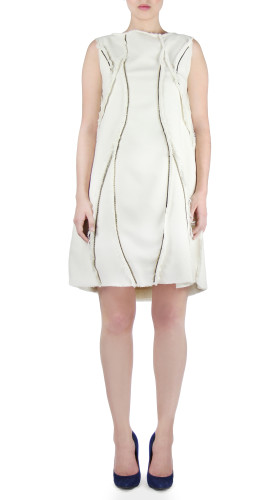 Zipper Panel Dress, Modern Baroque , Chanho Jang