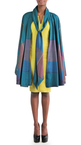 Plaid Cape, Mahogany , Jovan OConnor