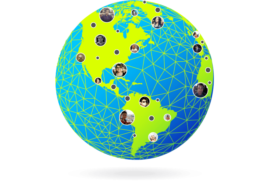 Virtually  fly your brand team  around the world