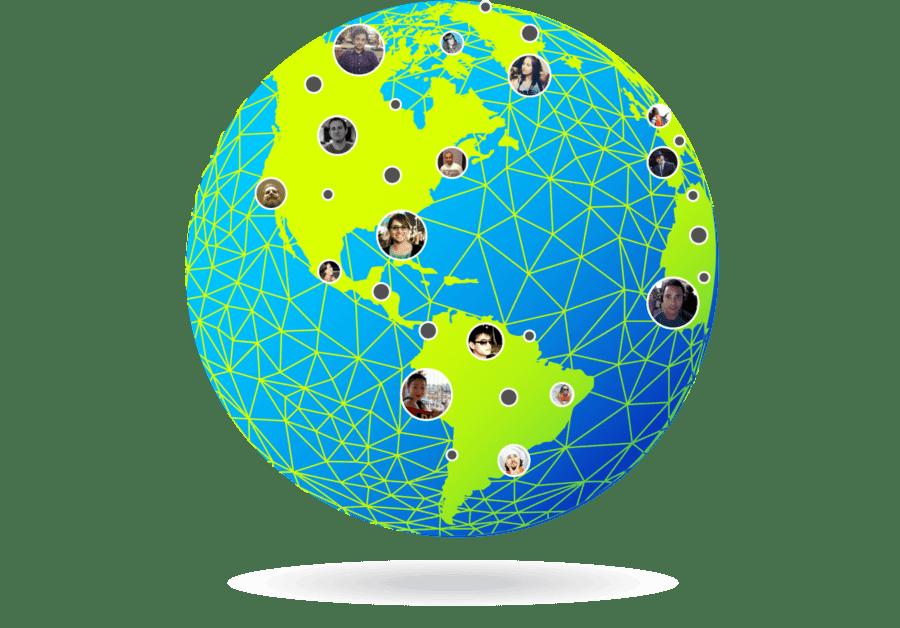 世界中のチームと連携