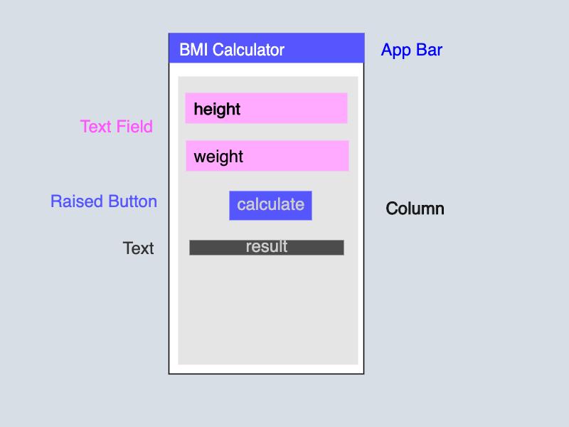 BMI Flutter App Skeleton