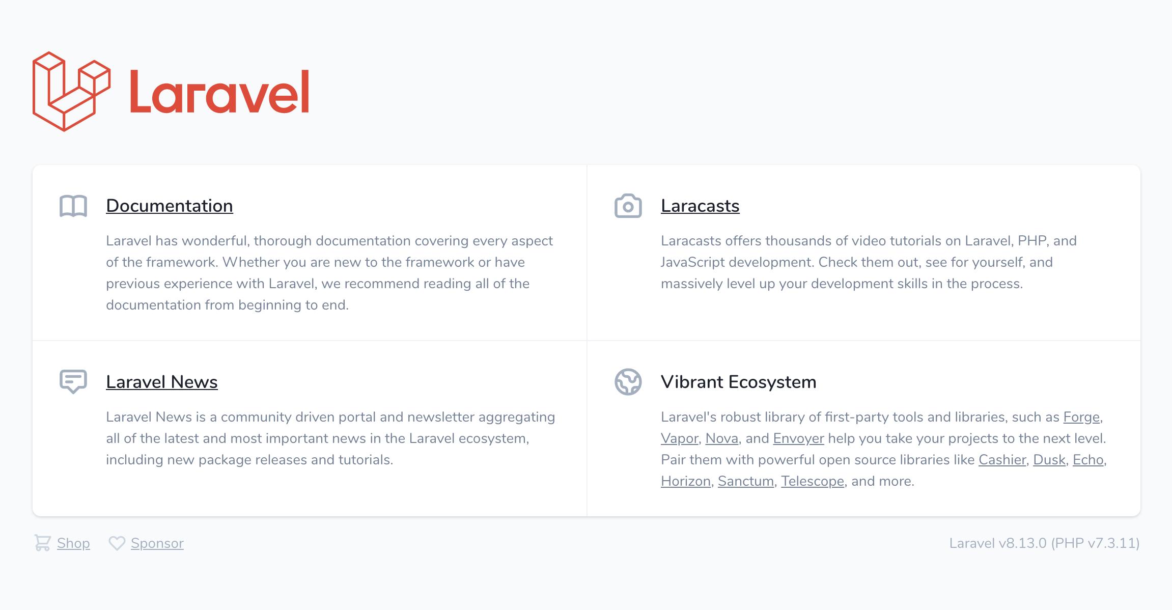 Lading Page Laravel 8