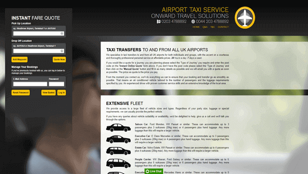 Airport Taxis Onward Travel Solutions