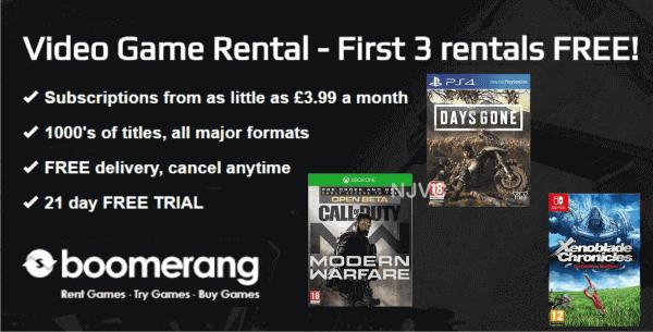 Boomerang Games Rentals
