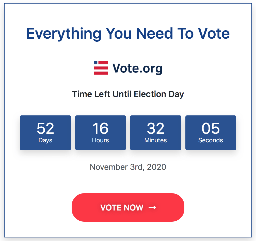 Everything you need to vote.