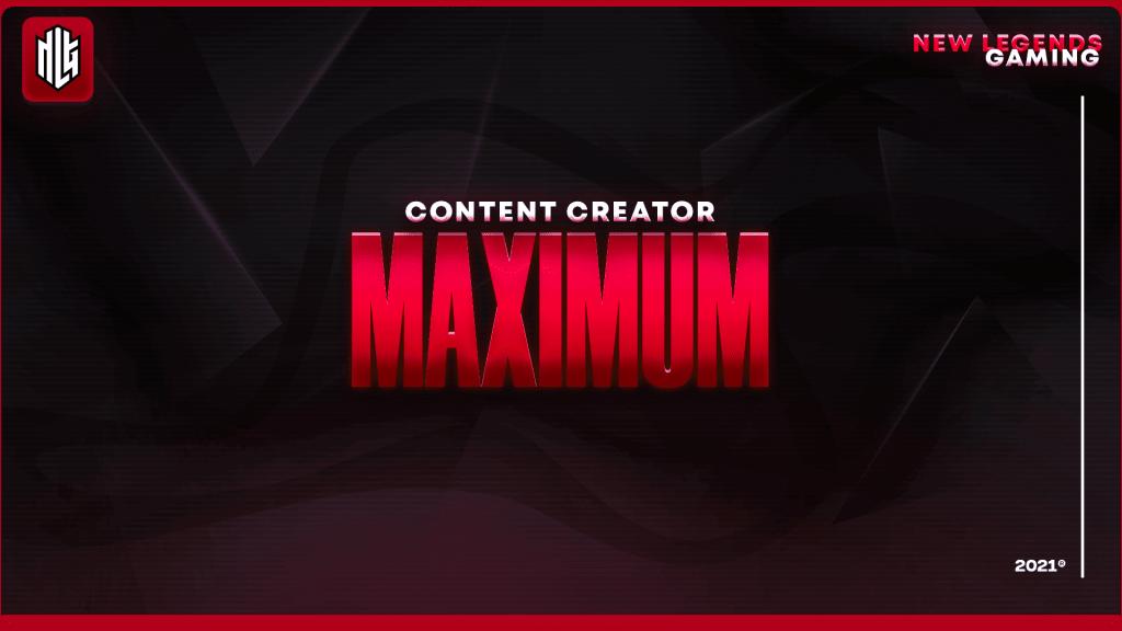 maximum nlg esports content creator