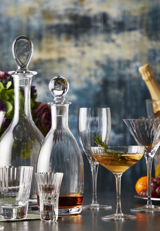 CORINNE BOTTLE DECANTER in clear
