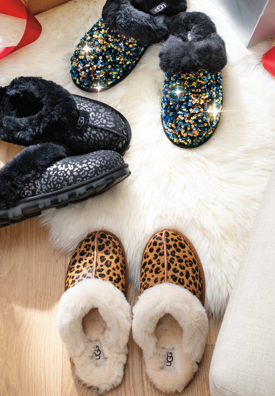 SNOW LEOPARD SLIPPER|SCUFFETTE 11 LEOPARD SLIPPER|SCUFFETTE 11 LEOPARD SEQUIN SLIPPER
