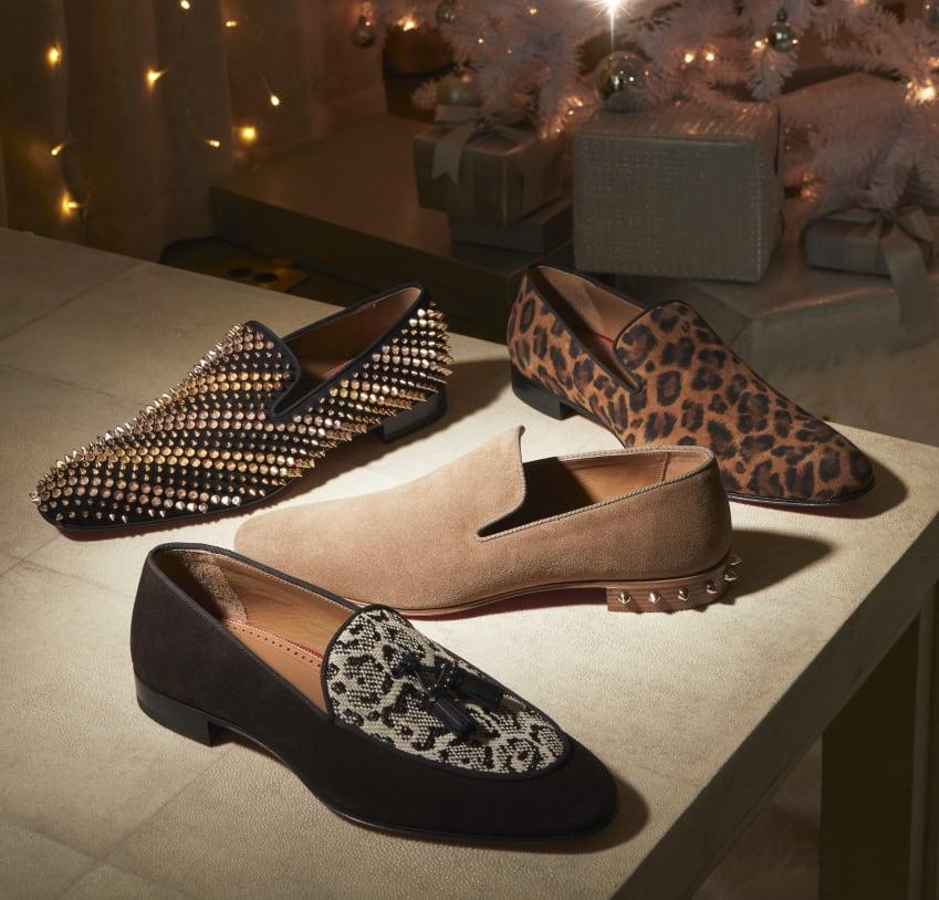 Studded loafer Suded loafer with studded heel Leopard loafer animal print loafer
