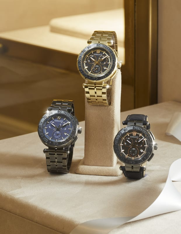 Watches: BLACK FACE WITH BLACK BAND|BLUE FACE WITH GUNMETAL BAND|BLUE FACE WITH METAL BAND