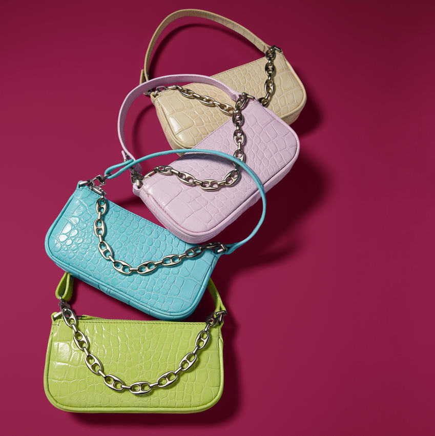 Mini Rachel handbag in Cream|Pink|matcha|aqua blue