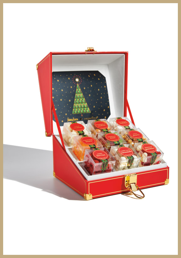 Neiman Marcus x Sugarfina Exclusive holiday art mini trunk​