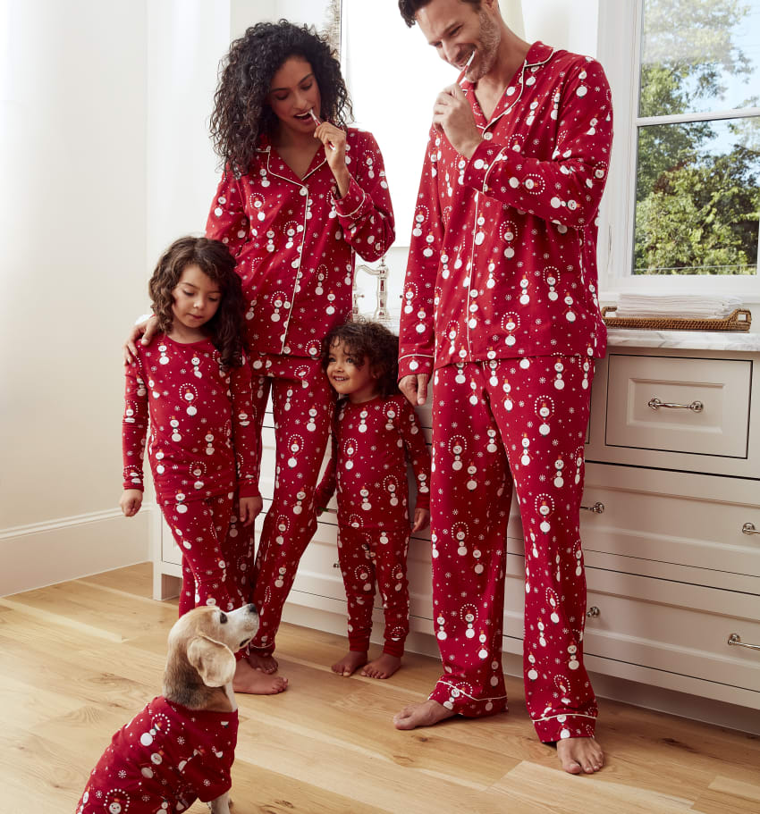 Juggling Snowman pajamas for women|men|kids|dog