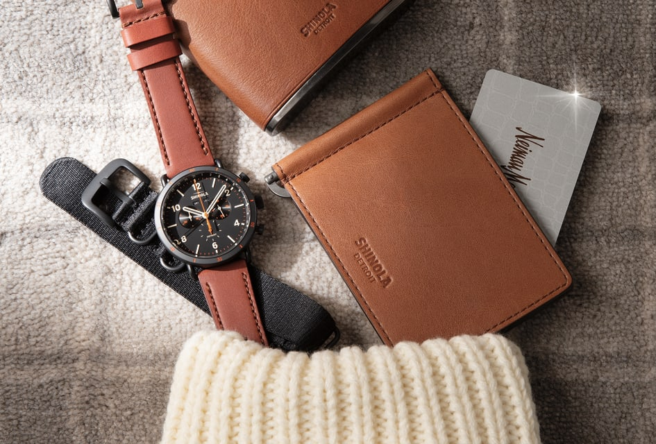EXCLUSIVE WATCH GIFT SET|EXCLUSIVE Whickey Flask Gunmetal|EXCLUSIVE BIFOLD WITH MONEY CLIP WHISKEY LEATHER GUNMETAL