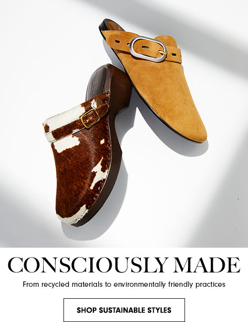 Consciously made. From recycled materials to environmentally friendly practices
