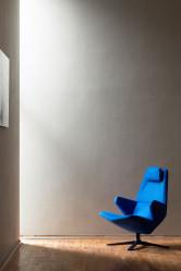 Blue Trifidae armchair Prostoria at Macura Museum