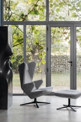 Trifidae armchair with Trifidae pouf Prostoria at Macura Museum