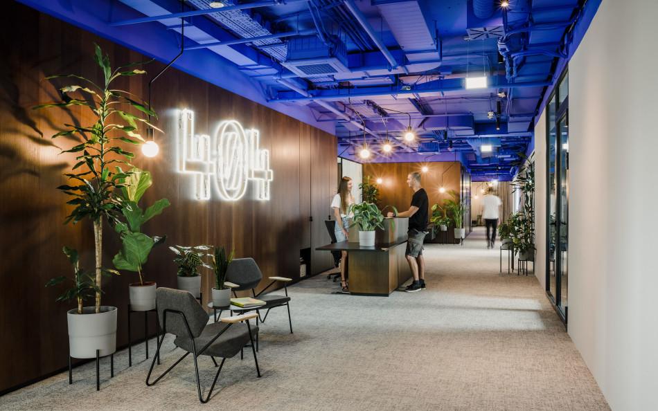 Prostoria u projektu interijera agencije 404