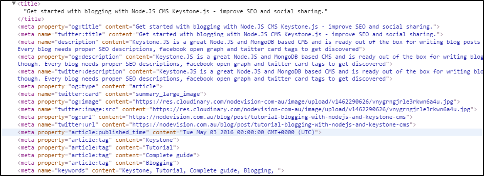 Meta tags for SEO and social