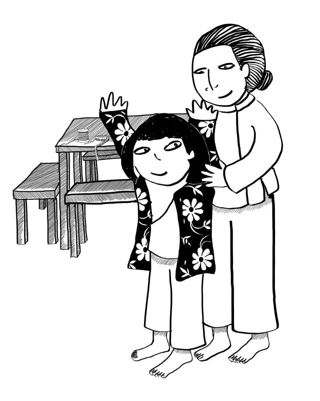 Bungee Cord Hair - illustration