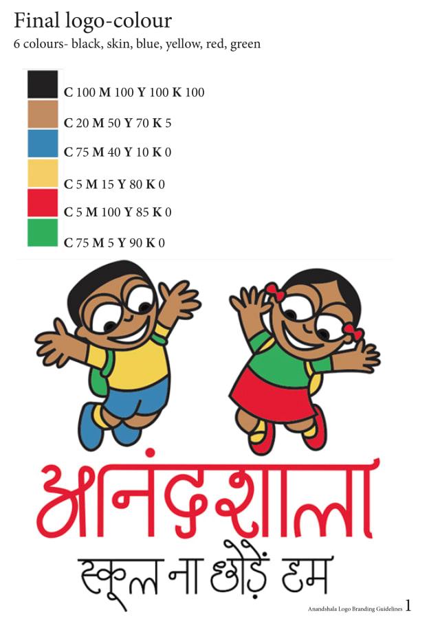 Anandshala logo - colour