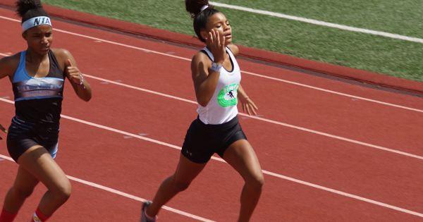 Image of Taylor Nunez running track