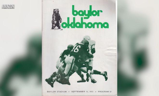 Image of an old Baylor vs Oklahoma flyer