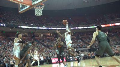 Image of UT longhorns basketball playing against Oklahoma State
