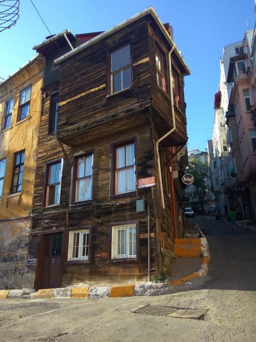 A wooden house in Beyoğlu