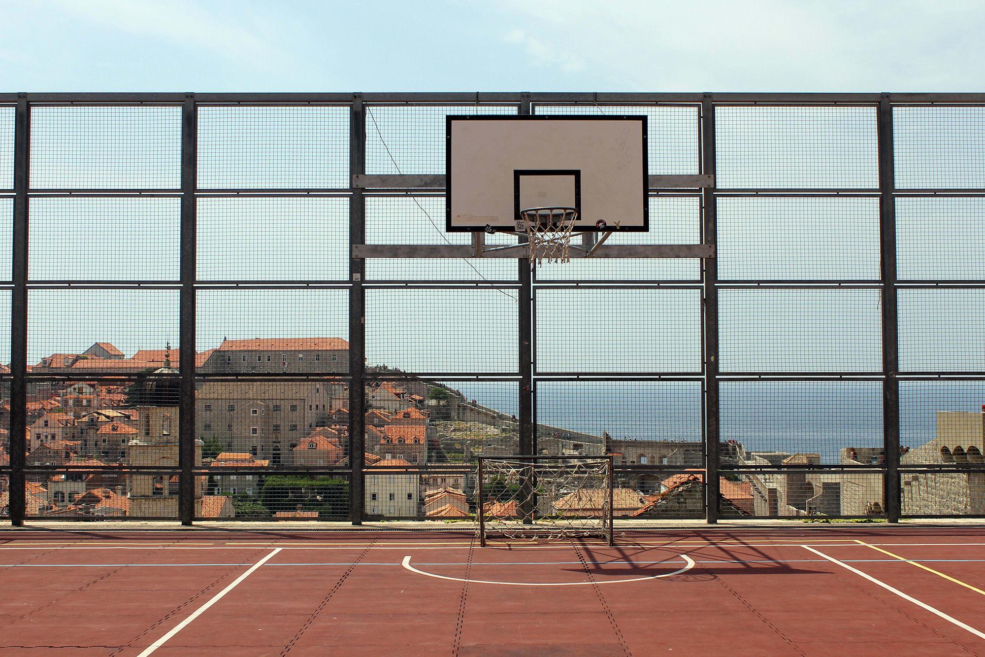 Basketball field in the old town of Dubrovnik