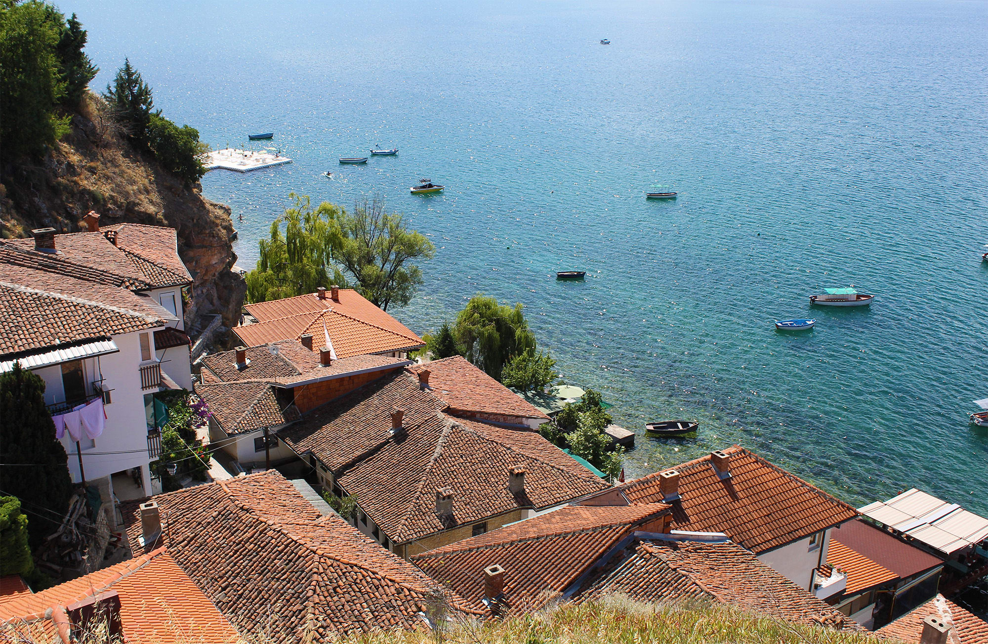 The town of Ohrid and its lake