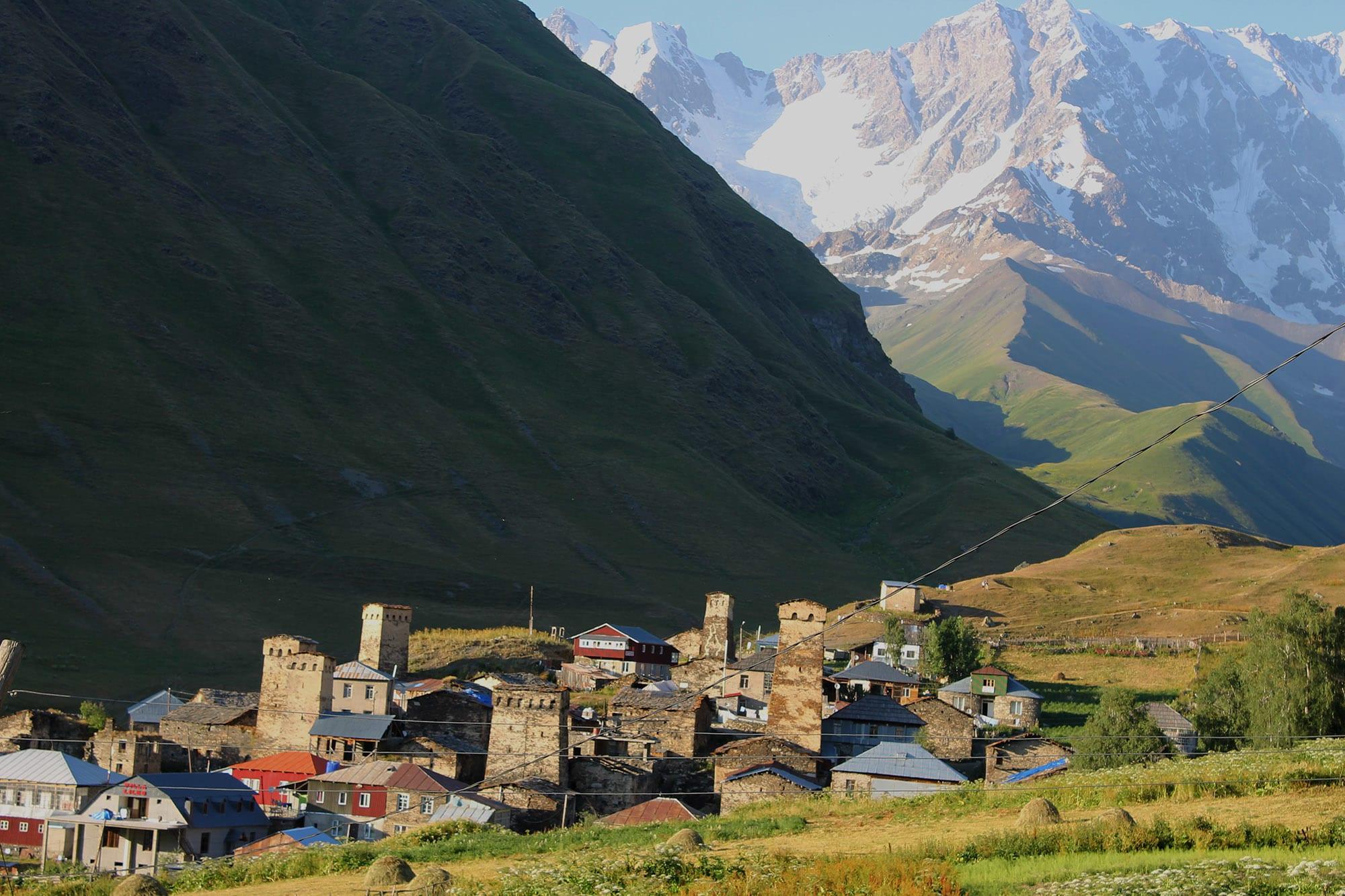 The village of Ushguli