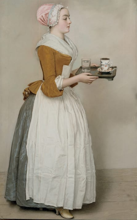The Chocolate Girl Jean-Etienne Liotard 1745