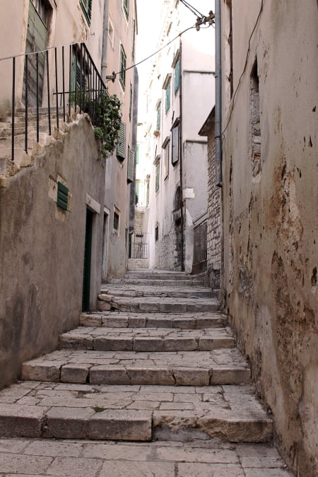 An alley in Sibenik