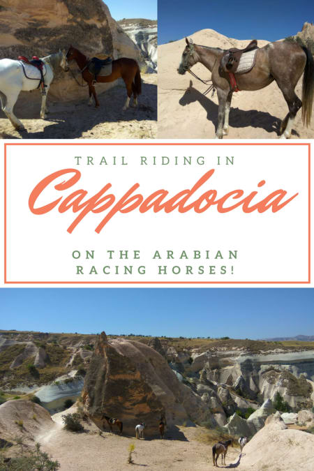Trail riding in Cappadocia on the Arabian racing horses