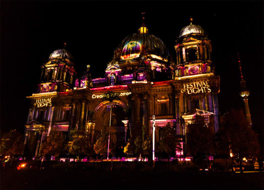 Impressions from the Berlin Festival of Lights 2017