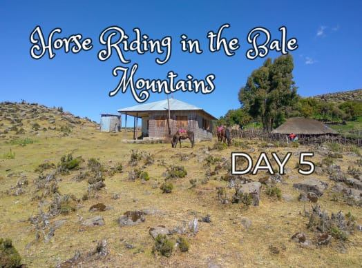 Visiting a Traditional Ethiopian Hut While Trekking in the Bale Mountains