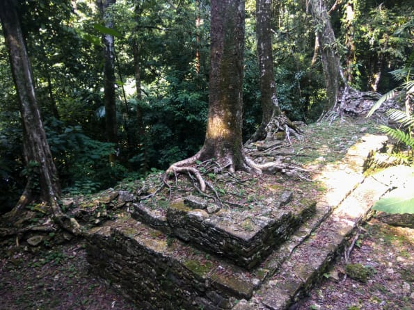 archeological site at palenque