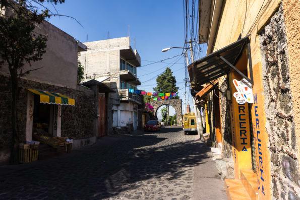 a street in xochimilco