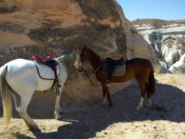 Riding in the valley of fairy chimneys