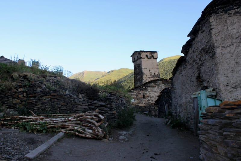 The famous Koshki towers in Ushguli