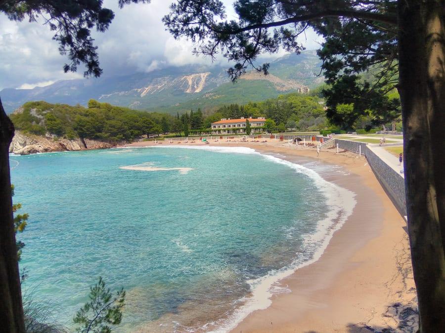 A beach at Sveti Stefan