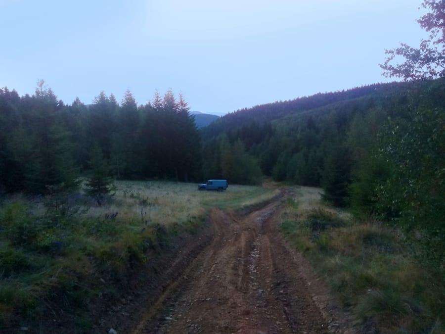 A road behind Kam'yanka