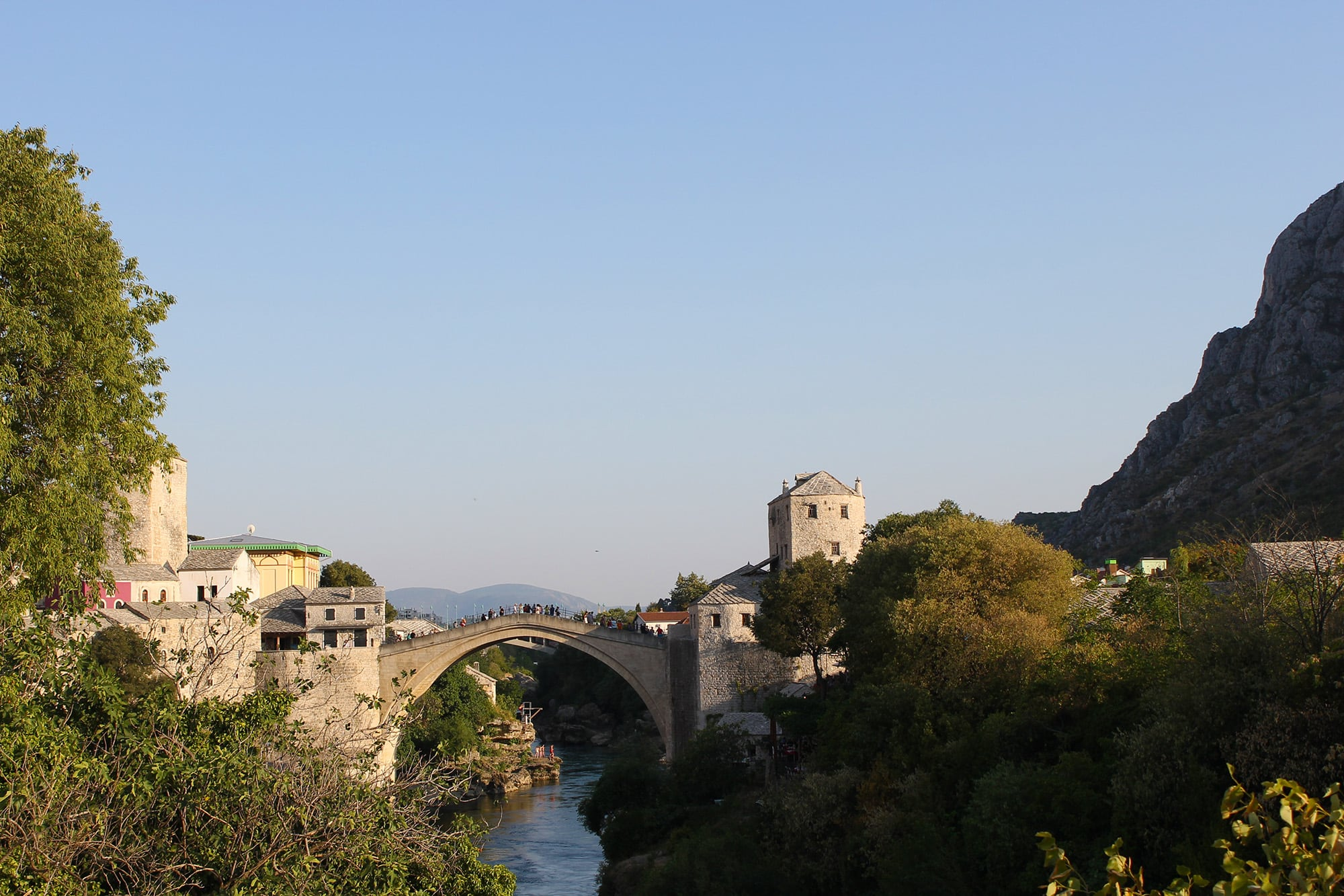 The famous bridge of Mostar