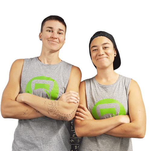 bowie stover and zay canters smiling wearing fmc singlets