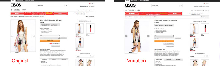 Asos Eye Tracking Test